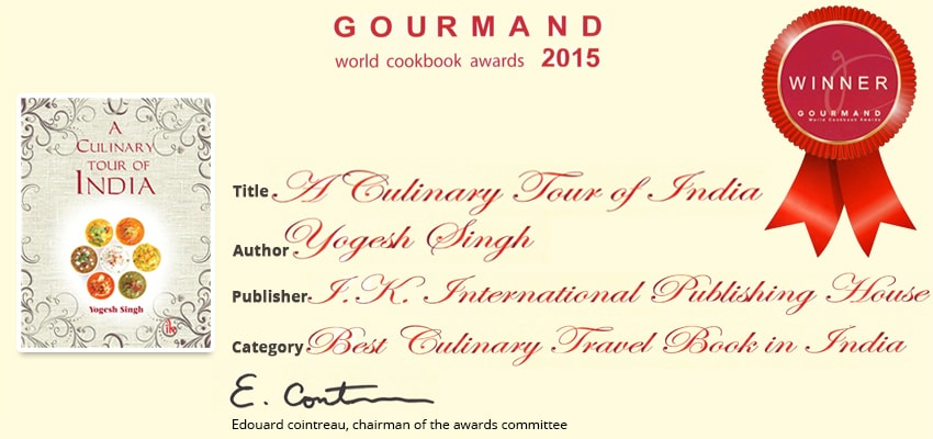 A Culinary Tour of India -- Gourmand Award 2015 winner