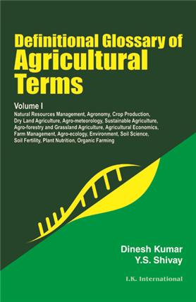 Definitional Glossary of Agricultural Terms, 1/e