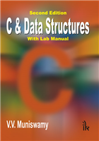 C & Data Structures: With Lab Manual, 2/e  by V.V. Muniswamy