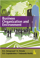 Business Organization and Environment, 1/e  by B.G. Satyaprasad